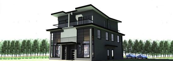 Modern fourplex gallery for Prefab 4 plex